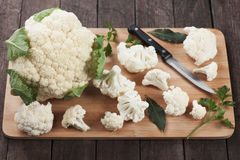 Raw cauliflower Royalty Free Stock Image