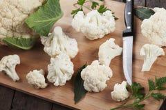 Raw cauliflower Stock Images