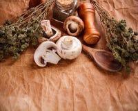 Raw champignons Stock Image