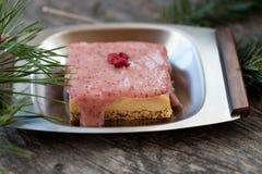Raw cheese cake Stock Photography
