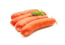Raw Cheese Kransky Hotdog Stock Photos
