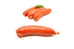 Raw cheese kransky hotdog Royalty Free Stock Image
