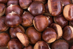 Raw chestnuts Stock Photo