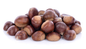 Raw chestnuts Royalty Free Stock Photos