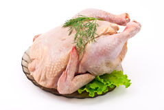 Raw chicken. Isolated on white Royalty Free Stock Photo