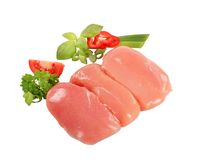 Raw chicken breast fillets Stock Images