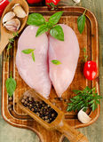 Raw chicken breast fillets Royalty Free Stock Photography