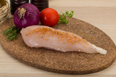 Raw chicken breast Royalty Free Stock Photos