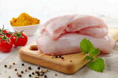 Raw chicken breast Royalty Free Stock Photography