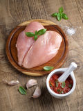 Raw chicken breast Royalty Free Stock Photo