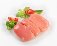 Raw chicken breasts Stock Images