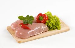 Raw chicken breasts Royalty Free Stock Photo