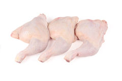Raw chicken drumstick. On a white Royalty Free Stock Images