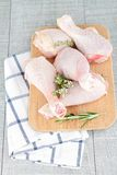 Raw chicken drumsticks Royalty Free Stock Photos