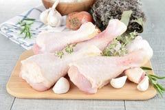 Raw chicken drumsticks Stock Image