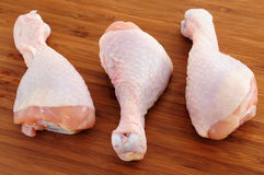 Raw chicken drumsticks Royalty Free Stock Photos