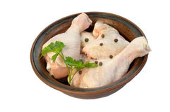Raw chicken drumsticks. Raw chicken  drumsticks  on white Stock Images