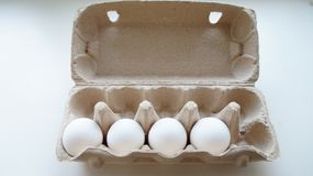 Chicken eggs in the package Royalty Free Stock Images