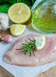 Raw chicken fillet Stock Images