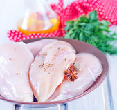 Raw chicken fillet Royalty Free Stock Image