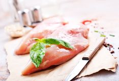 Raw chicken fillet Royalty Free Stock Photos