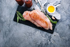 Raw chicken fillet Stock Photos