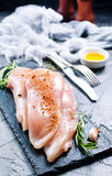 Raw chicken fillet Stock Photography
