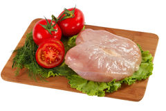 Raw chicken fillet with vegetables Stock Photo