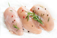 Raw Chicken fillet on a white Royalty Free Stock Photography