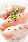 Raw Chicken fillet on a white Stock Photography
