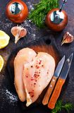 Raw chicken fillets Royalty Free Stock Photography