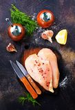 Raw chicken fillets Royalty Free Stock Photos