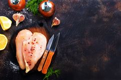 Raw chicken fillets Royalty Free Stock Images