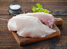 Raw chicken fillets Stock Photography