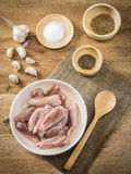 Raw chicken and ingredient Royalty Free Stock Photography