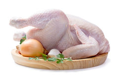 Raw chicken isolated Royalty Free Stock Photography