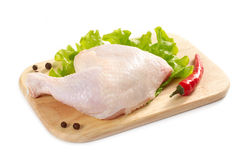 Raw Chicken Leg Royalty Free Stock Photography