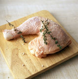 Raw chicken leg Royalty Free Stock Photo