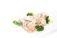 Raw chicken leg Royalty Free Stock Photos