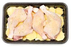 Raw chicken legs. Close up of fresh raw chicken legs Royalty Free Stock Photography