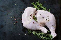 Raw chicken legs. Royalty Free Stock Photography