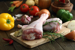 Raw chicken legs Royalty Free Stock Images