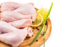 Raw chicken legs Stock Photos