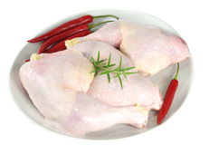 Raw chicken legs Stock Photography