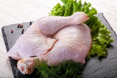 Raw chicken legs. For cooking Stock Image