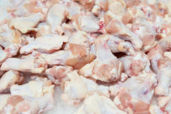 Raw chicken legs on top of ice on sale Stock Photo
