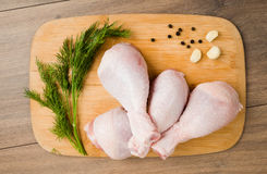 Raw chicken legs Royalty Free Stock Photography