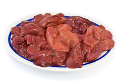 Raw chicken liver Royalty Free Stock Photography