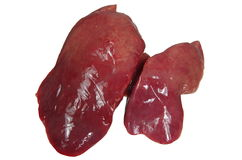 Raw chicken liver Royalty Free Stock Image