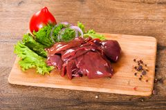 Raw chicken liver. For cooking Stock Images